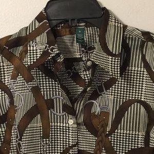 (2390). Ralph Lauren (Lauren) blouse.  Size M
